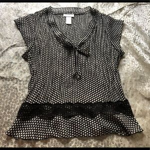 Woman's polka dot blouse tank top